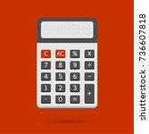electronic calculator in flat...   Shutterstock .eps vector #736607818