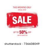 sale banner layout design | Shutterstock .eps vector #736608049