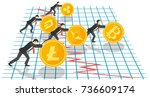 bitcoin growth concept vector... | Shutterstock .eps vector #736609174