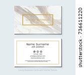 luxury business cards vector...   Shutterstock .eps vector #736611220