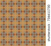 orange  yellow and brown ethnic ... | Shutterstock .eps vector #736611730
