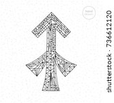 sagittarius zodiac sign. vector ... | Shutterstock .eps vector #736612120