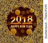 new year 2018 celebration... | Shutterstock .eps vector #736619194