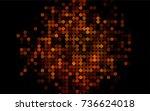 dark yellow  orange vector red... | Shutterstock .eps vector #736624018