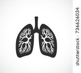 human lungs anatomy vector icon ... | Shutterstock .eps vector #736626034