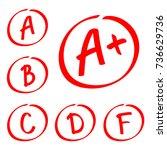 grade results. hand drawn... | Shutterstock .eps vector #736629736