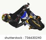 naked bike race | Shutterstock . vector #736630240