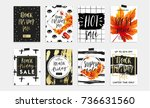 black friday sale poster with... | Shutterstock .eps vector #736631560