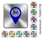 free wifi hotspot engraved... | Shutterstock .eps vector #736631758