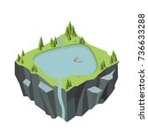 nature landscape  mountain and... | Shutterstock .eps vector #736633288