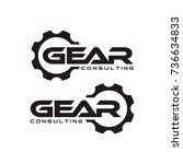 gear logo design template vector | Shutterstock .eps vector #736634833