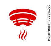 smoke detector vector icon | Shutterstock .eps vector #736641088