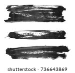 brush stroke and texture. smear ... | Shutterstock . vector #736643869