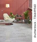 modern loft area interior... | Shutterstock . vector #736649560
