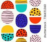 cute simple pattern in nordic... | Shutterstock .eps vector #736651360