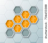 vector abstract 3d paper...   Shutterstock .eps vector #736653388