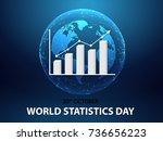 world statistic day background | Shutterstock .eps vector #736656223