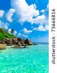 summer stones scene | Shutterstock . vector #73666816
