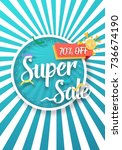 illustration of sale  poster... | Shutterstock . vector #736674190