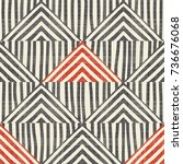seamless hand drawn stripe... | Shutterstock .eps vector #736676068