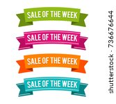 colorful sale of the week... | Shutterstock .eps vector #736676644
