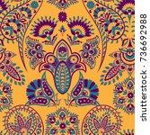 paisley vector seamless pattern.... | Shutterstock .eps vector #736692988