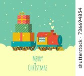 merry christmas greeting card | Shutterstock .eps vector #736694854
