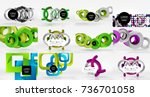 set of objects backgrounds... | Shutterstock .eps vector #736701058