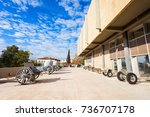the athens war museum is the...   Shutterstock . vector #736707178