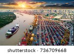 logistics and transportation of ...   Shutterstock . vector #736709668