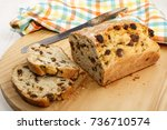 Raisin Bread Cut In To Slices...