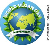 world vegan day | Shutterstock . vector #736713526