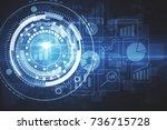 abstract digital business chart ... | Shutterstock . vector #736715728