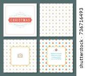 christmas greeting card vector... | Shutterstock .eps vector #736716493