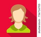girl user icon. flat...