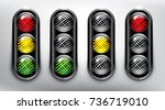semaphore. traffic lights icon. ... | Shutterstock .eps vector #736719010