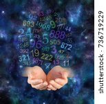 cosmic numerology   female... | Shutterstock . vector #736719229