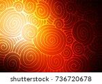 dark orange vector doodle...   Shutterstock .eps vector #736720678