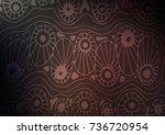 dark vector natural elegant... | Shutterstock .eps vector #736720954