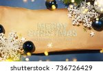 christmas holiday background. | Shutterstock . vector #736726429