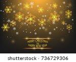 snowflake christmas vector... | Shutterstock .eps vector #736729306