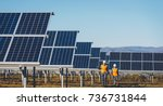 solar power station | Shutterstock . vector #736731844