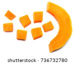 Piece Of Pumpkin Isolated On...