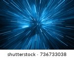 time warp  traveling in space.... | Shutterstock . vector #736733038