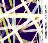 striped cover design in... | Shutterstock .eps vector #736735294