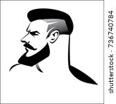 male profile  a men with a... | Shutterstock .eps vector #736740784