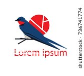 bird symbol | Shutterstock .eps vector #736741774