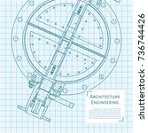 Vector Technical Blueprint Of...