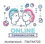 online communication concept on