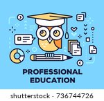 professional education concept... | Shutterstock .eps vector #736744726